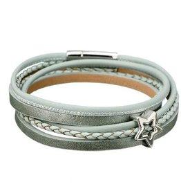 Sweet 7 Plus Size Wikkel Armband Pastel Groen