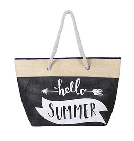 Strandtas Hello Summer Black
