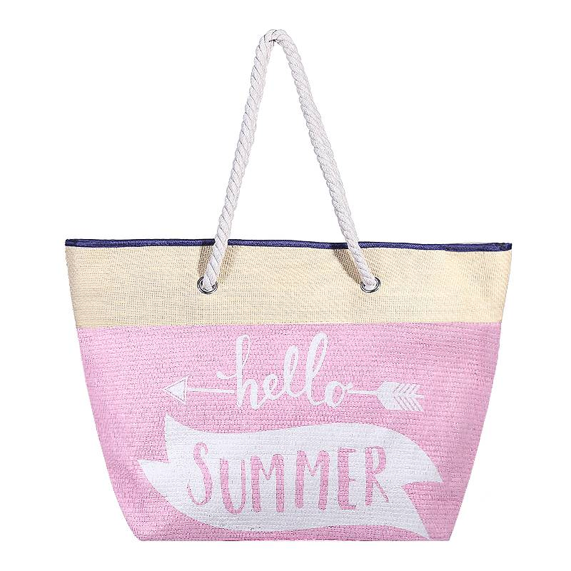 Strandtas Hello Summer Pink
