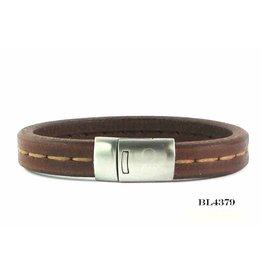 B & L Lederen Armband Robust Brown Mt20