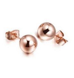 Fashion Jewelry Oorbellen Stekers Bolletje Stainless Steel Rose
