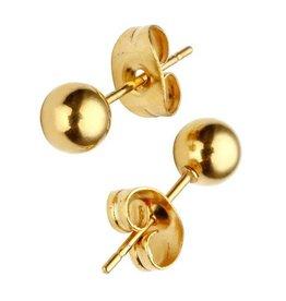 Fashion Jewelry Oorbellen Stekers Bolletje Stainless Steel Gold