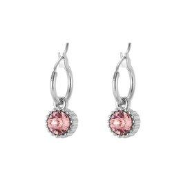 Yehwang Oorbellen Posh Sparkle - Rose - Zilver Plated