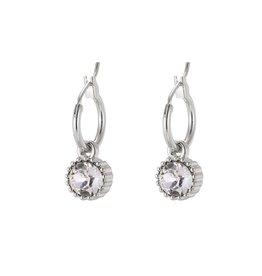 Yehwang Oorbellen Posh Sparkle - Crystal - Zilver Plated