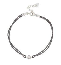 Charmin's Armband Zilver Black met Japans zijde