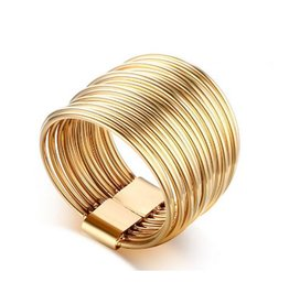 Fashion Jewelry Ring Wire Stainless Steel - Gold