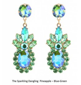 The Sparkling Dangling  Pineapple - Blue/Green