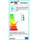 Busch Leuchten LED Schlauchwandleuchte mit Schalter 1 x 2,5 Watt