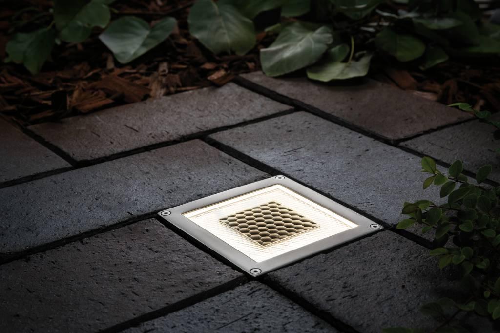 Paulmann Bodeneinbauleuchten-Set Solar Cube LED Edelstahl, 1er Set