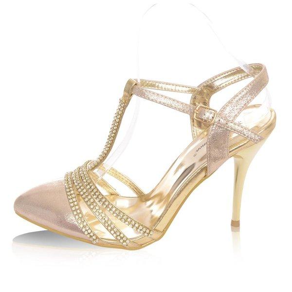 Gouden glamour pump