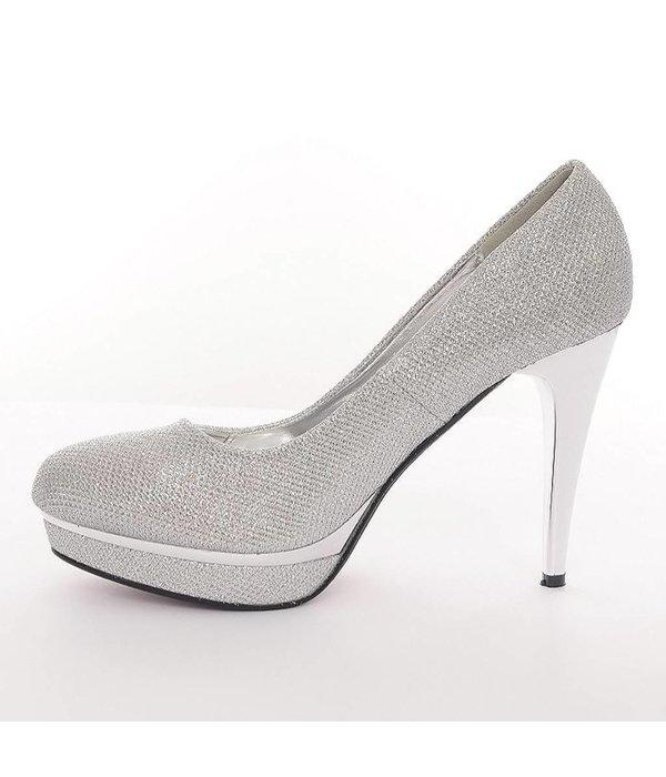 Avondschoenen Zilver