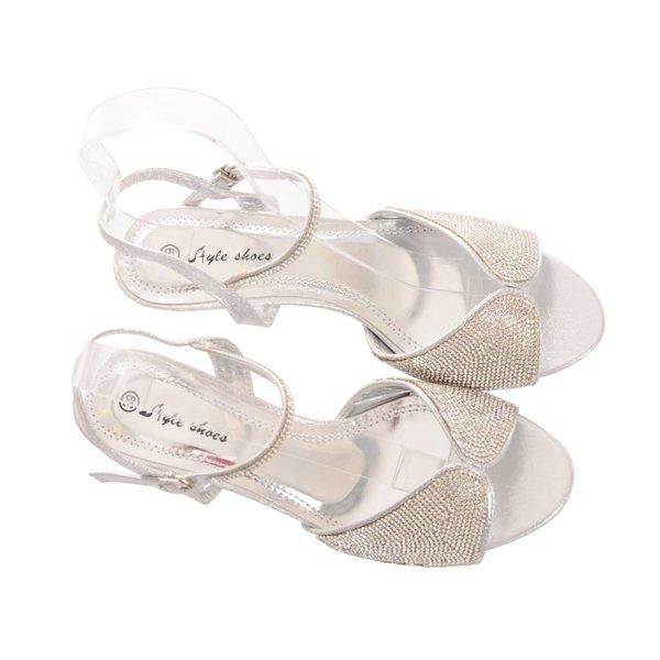 Gala schoenen met lage hak