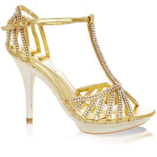 Avondsandaal goud