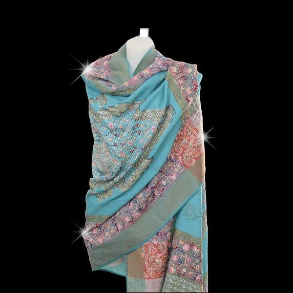Pashmina sjaal Turqouise