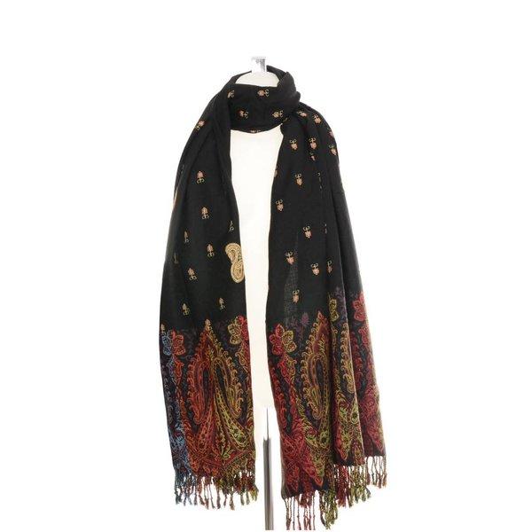 Pashmina sjaal Zwart