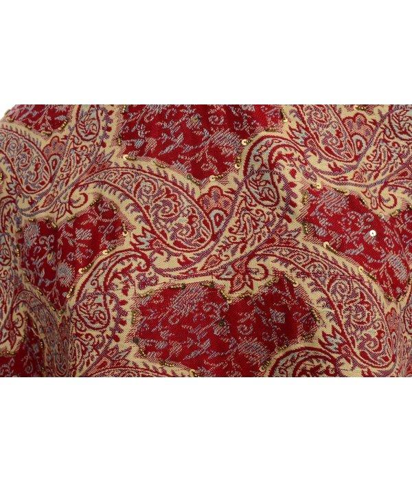 Bordeaux sjaal