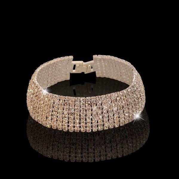 Strass armband Zilver