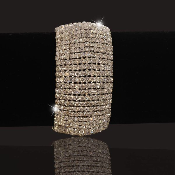 Strass armband Zilver (S210)