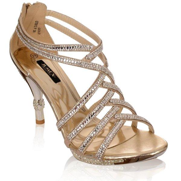 Gouden glamour sandaal