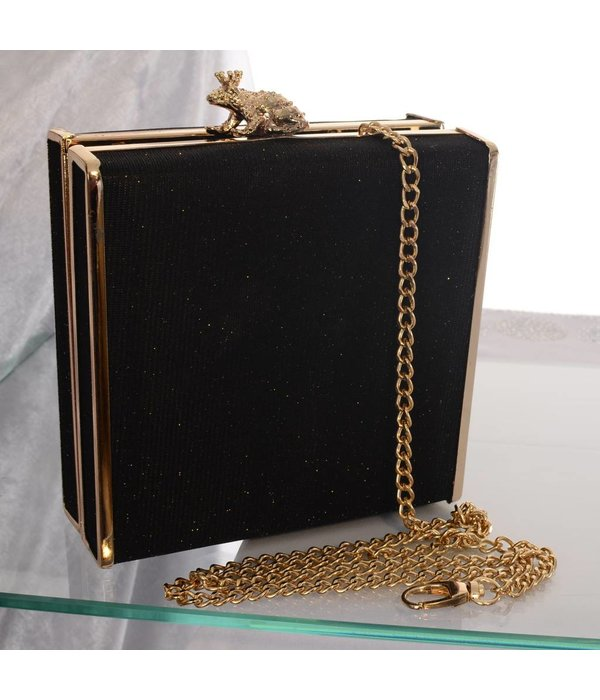 Hard-case party clutch