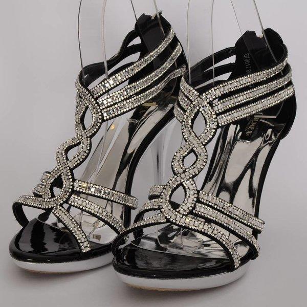 Glamour sandaal Glitzy - Zwart