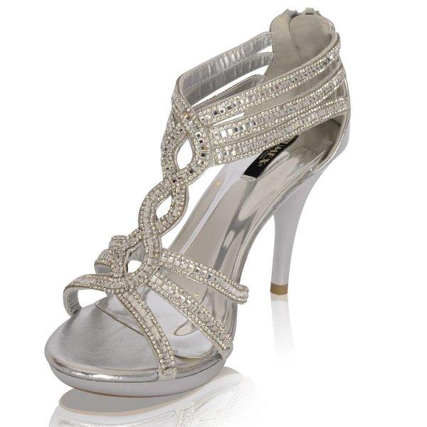 Glamour sandaletten Glitzy - Zilver