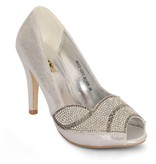 Peep-toe pumps - zilver