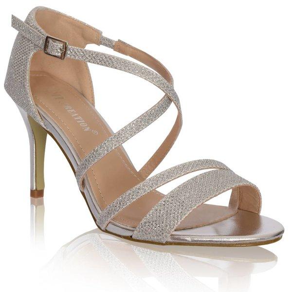 sandalen met kruisbandjes-Goud