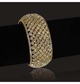 Bangle Armband Strass - Goud
