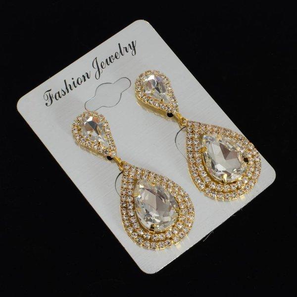 bruids oorbellen - goud