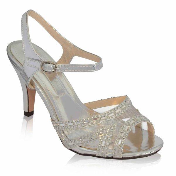 Strass sandaletten - Zilver
