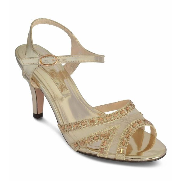 Strass sandaletten - Goud