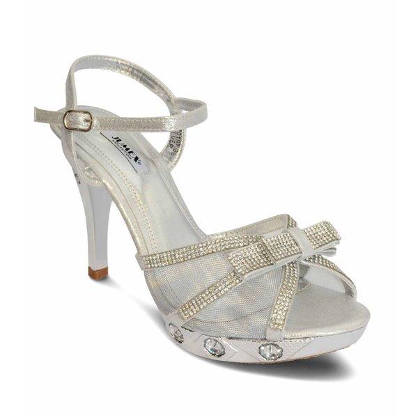 Plateau sandalen met strik - strass