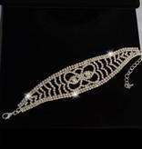 Glamour Armband strass (Zilver)