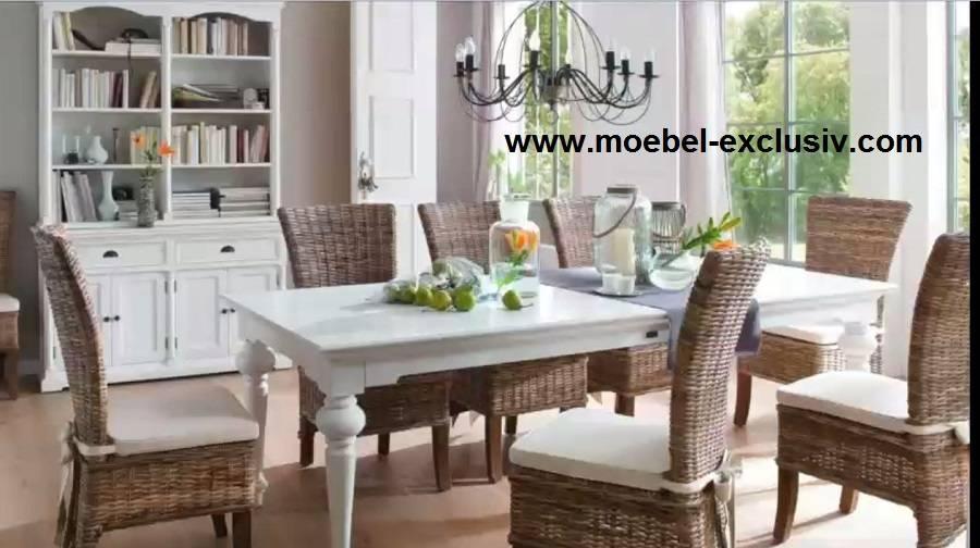 Möbel weiß von Novasolo Halifax Provence Küchen Esszimmertisch