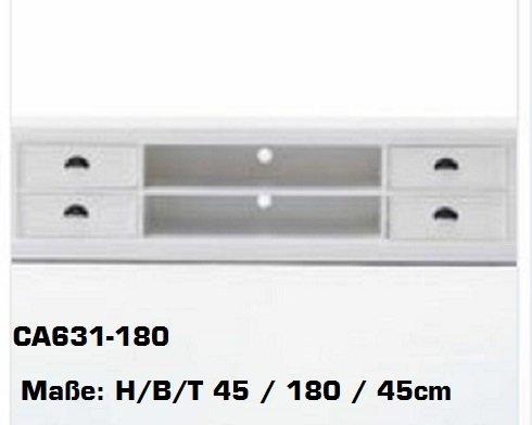 landhausm bel weiss halifax tv kommode tv schrank lowboard ca631. Black Bedroom Furniture Sets. Home Design Ideas