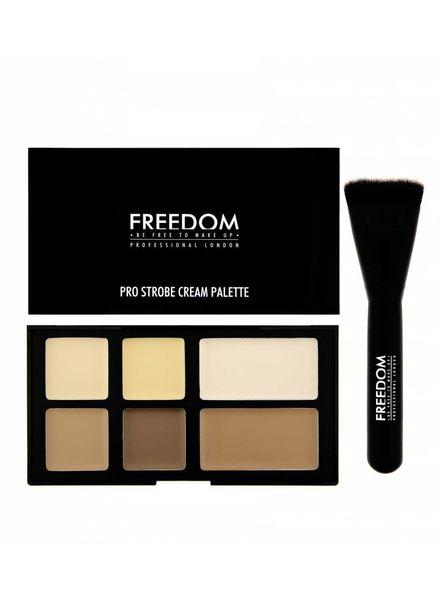 Freedom Makeup London Freedom Pro Studio Strobe Cream Palette with Brush