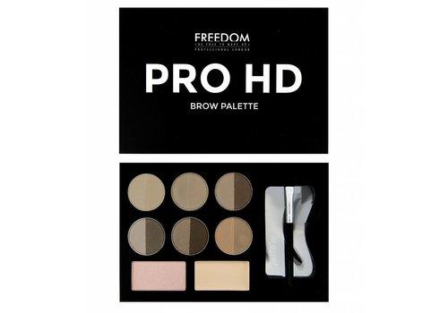 Freedom Makeup London HD Brow Palette Fair Medium