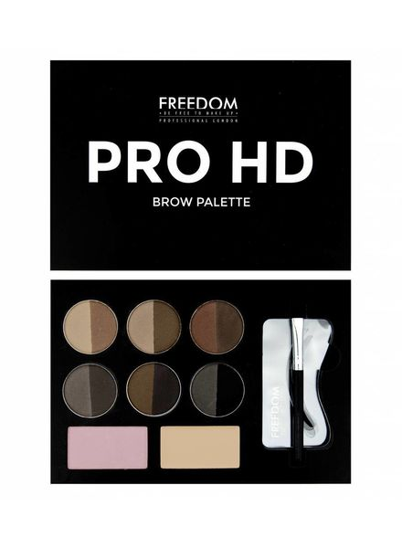 Freedom Makeup London Freedom Pro HD Brow Palette Medium Dark