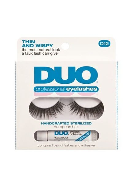 DUO Professional Eyelashes D12 Thin and Whispy