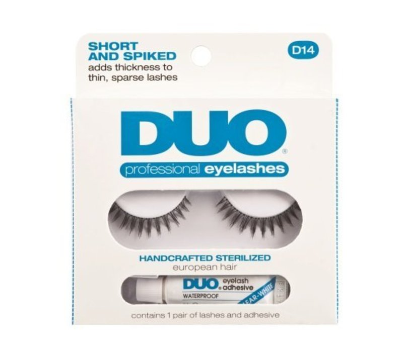 DUO Professional Eyelashes D14 Short and Spiked