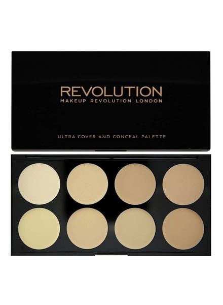 Makeup Revolution Makeup Revolution Ultra Cover and Concealer Palette Light