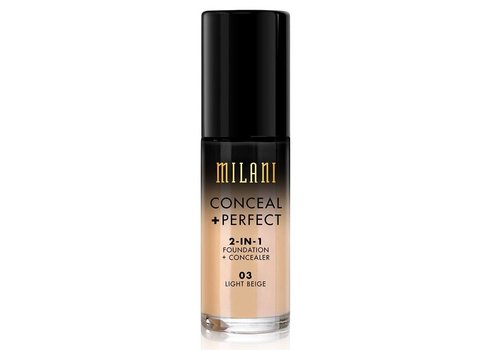 Milani 2-in-1 Foundation and Concealer 03 Light Beige