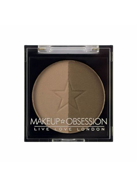 Makeup Obsession Makeup Obsession Brow Duo Powder Refill BR105 Medium Brown