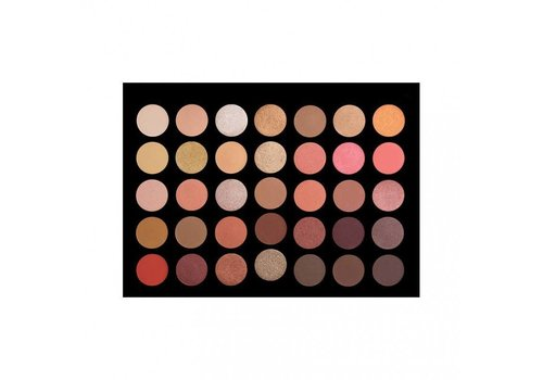 Crown Brush 35 Colour Rose Gold Palette