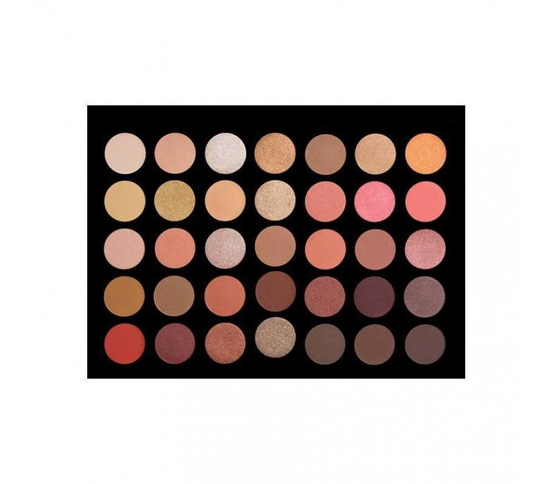 Crown Brush 35 Colour Rose Gold Eyeshadow Palette