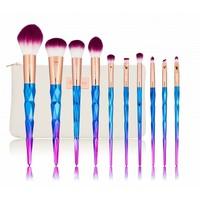 Boozyshop 10 pc Rainbow Makeup Brush Set
