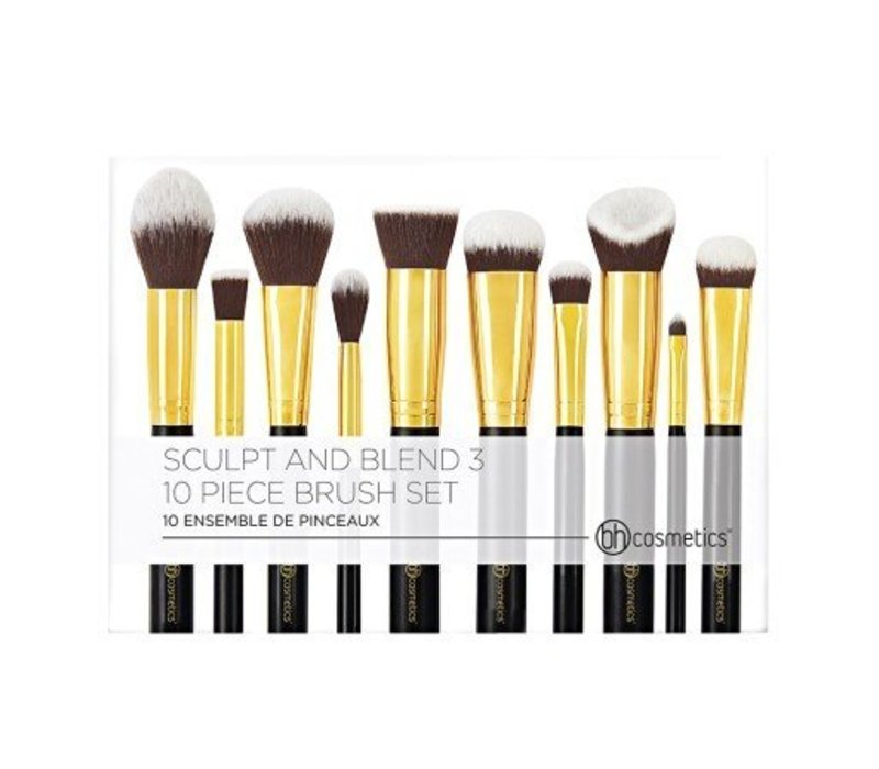 BH Cosmetics Sculpt and Blend 3 10 Piece Brush Set