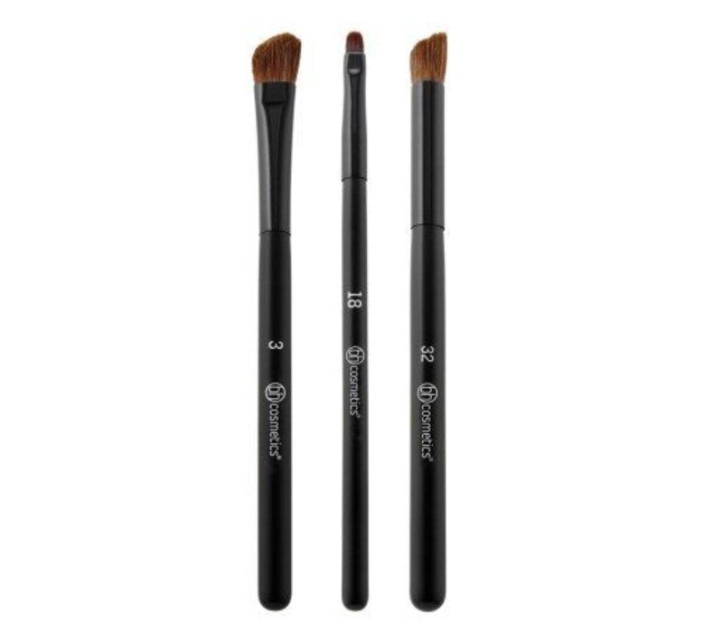 BH Cosmetics Defining Eye Trio 3 Piece Brush Set