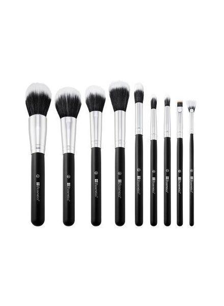BH Cosmetics BH Cosmetics Dual Fiber 9 Piece Brush Set with Black Brush Roll